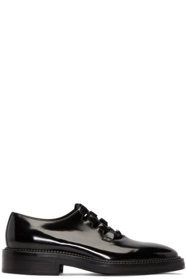 Yang Li - Black Patent Leather Ghillie Derbys