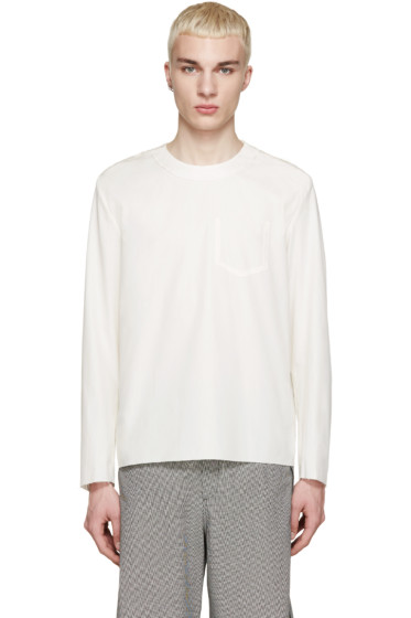 Yang Li - Off-White Raw Edge Shirt
