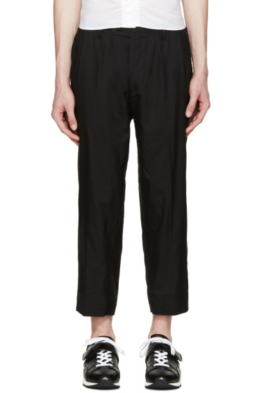 08Sircus - Black Tropical Wool Trousers