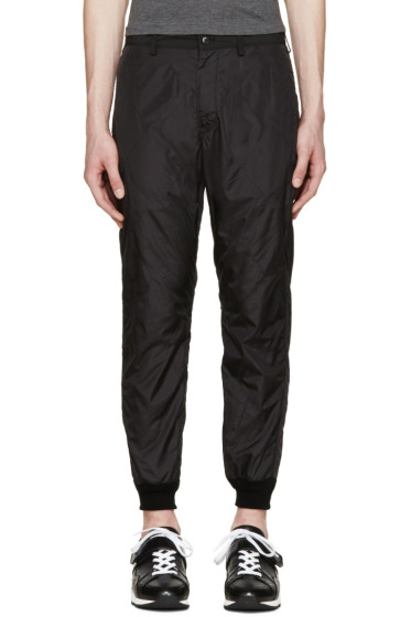 08Sircus - Black Quilted Nylon Trousers