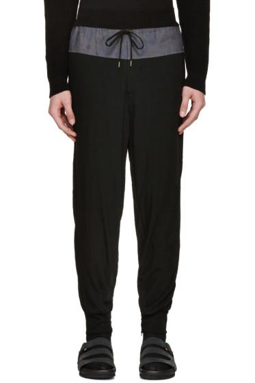Kolor - Black Contrast Lounge Pants