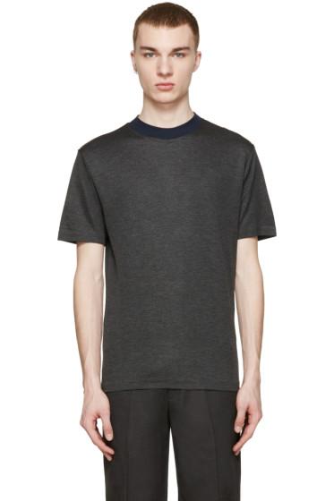 Kolor - Grey Contrast Collar T-Shirt