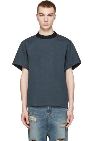 Kolor - Green Knit Collar T-Shirt