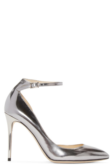 Jimmy Choo - Silver Mirrored Lucy Heels
