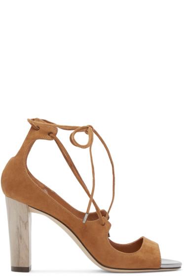 Jimmy Choo - Brown Vernie Heeled Sandals