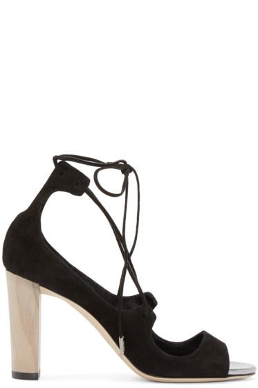 Jimmy Choo - Black Vernie Heeled Sandals