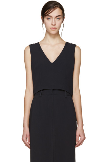 Maiyet - Navy Cropped Shell Top