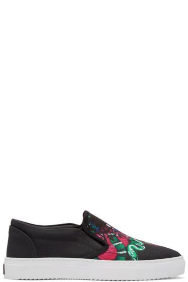 Marcelo Burlon County of Milan - Black Merida Slip-On Sneakers