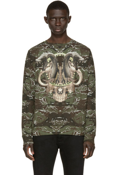 Marcelo Burlon County of Milan - Green & Brown Cardenas Pullover