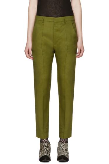 Haider Ackermann - Green Linen Koa Trousers