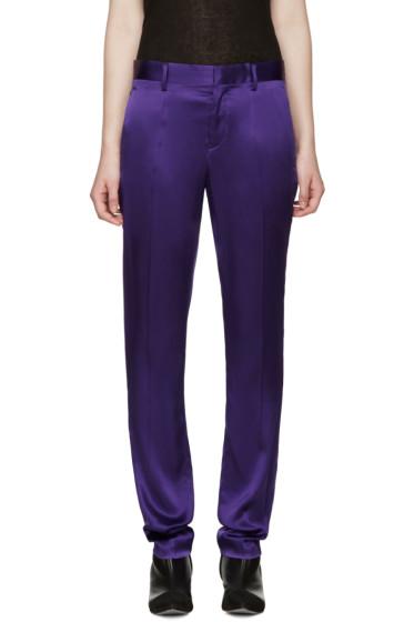 Haider Ackermann - Purple Silk Iteso Trousers