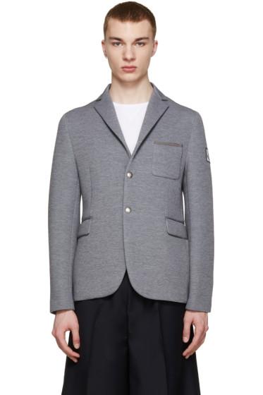 Moncler Gamme Bleu - Grey Neoprene Blazer