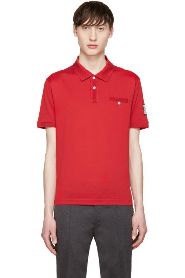 Moncler Gamme Bleu - Red Cotton Polo