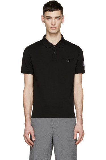 Moncler Gamme Bleu - Black Cotton Polo