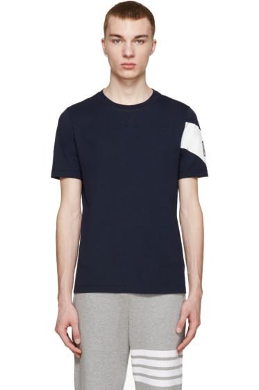 Moncler Gamme Bleu - Navy Chevron T-Shirt