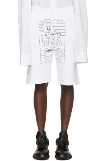 Hood by Air - White Jock Box Shorts