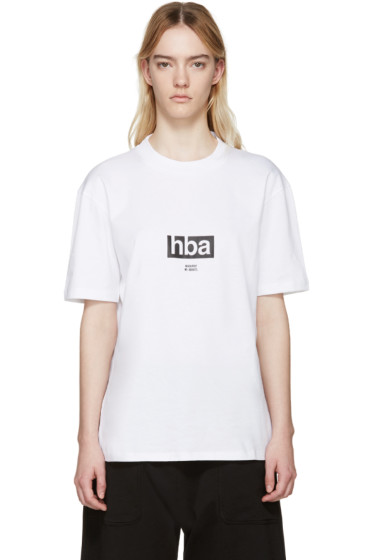 Hood by Air - White Lowercase T-Shirt