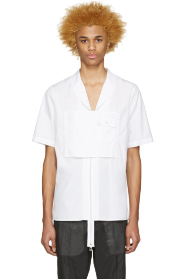 Hood by Air - White Poplin Moma Zip Shirt
