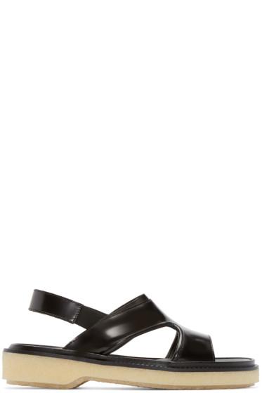 Adieu - Black Leather Type 43 Sandals