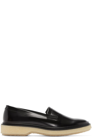Adieu - Black Leather Type 58 Loafers