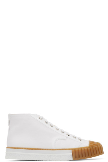 Adieu - White Canvas Type W.O. High-Top Sneakers