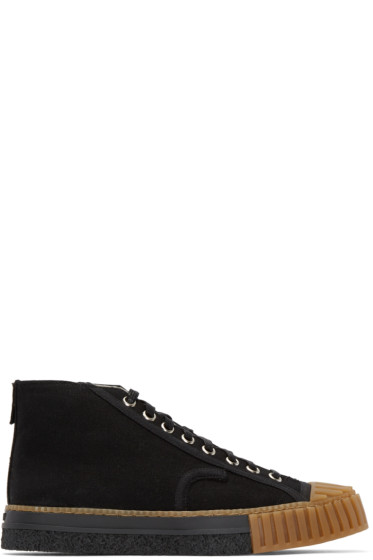 Adieu - Black Canvas Type W.O. High-Top Sneakers