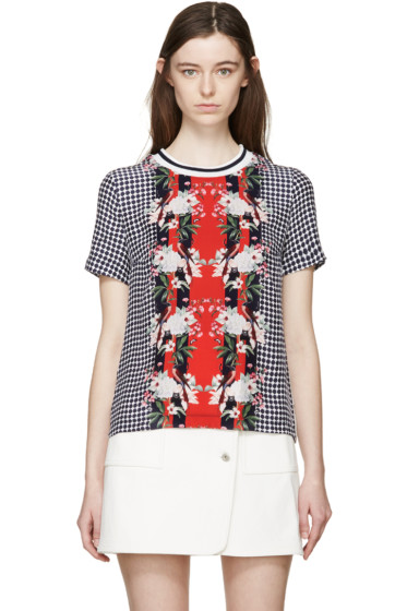 Mother of Pearl - Multicolor Satin Birds Thane Blouse