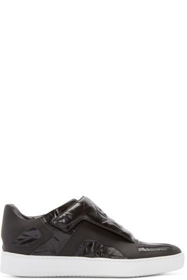 Giuliano Fujiwara - Black Embossed A3 Sneakers