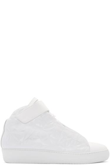 Giuliano Fujiwara - White Embossed A3 High-Top Sneakers