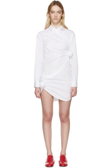 Jacquemus - White Poplin Knot Dress