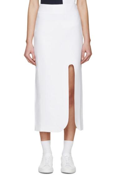 Jacquemus - White Linen Valerie Skirt