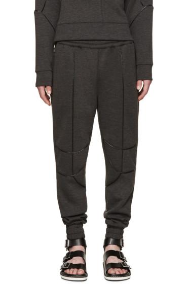 Pyer Moss - SSENSE Exclusive Grey Patent Trim Lounge Pants