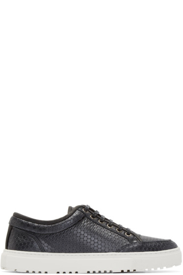 ETQ Amsterdam - Black Leather Meriva Low 2 Sneakers