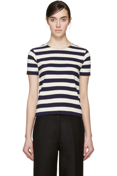NLST - Navy & Cream Striped T-Shirt