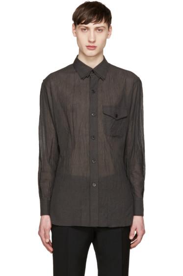 Yohji Yamamoto - Grey Wrinkled Voile Shirt