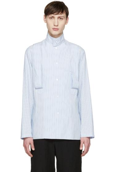 Yohji Yamamoto - Blue Striped Suspender Shirt
