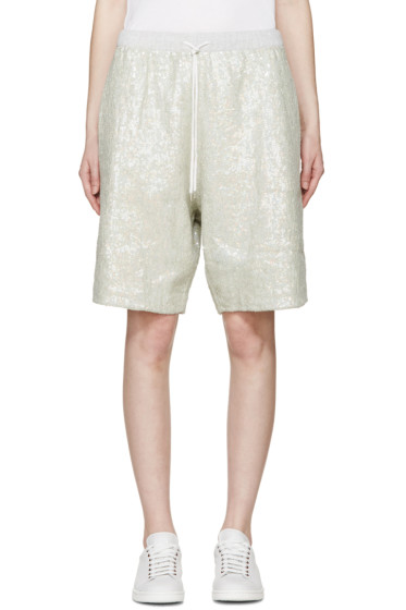Ashish - Green Sequin Lounge Shorts