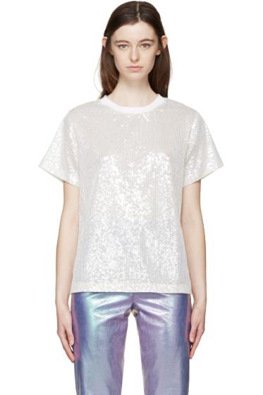 Ashish - Off-White Sequin Mesh T-Shirt
