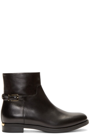 Burberry London - Black Badington Equestrian Boots