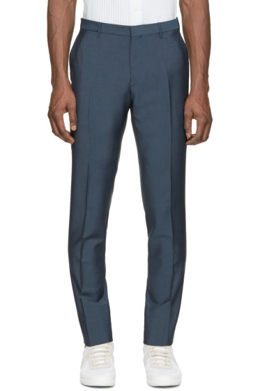 Burberry London - Blue Wool Trousers