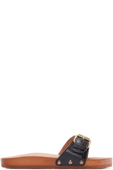 Isabel Marant - Black Leather Tadley Sandals