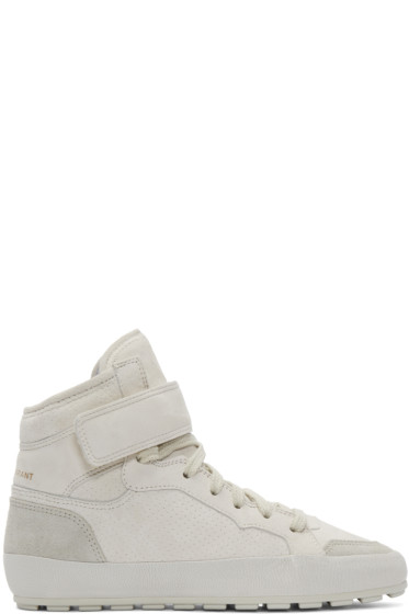 Isabel Marant - Grey Suede Bessy Hip Hop Sneakers