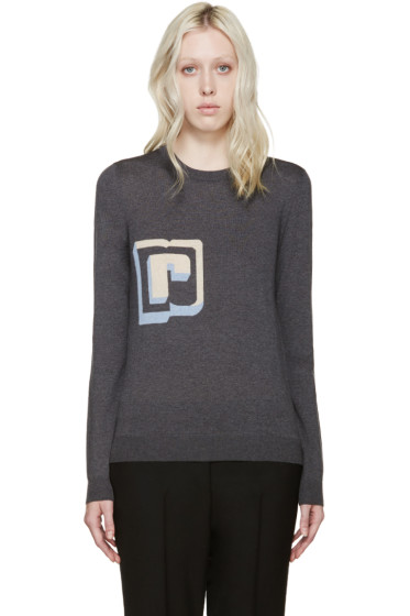 Paco Rabanne - Grey Wool Intarsia R Pullover