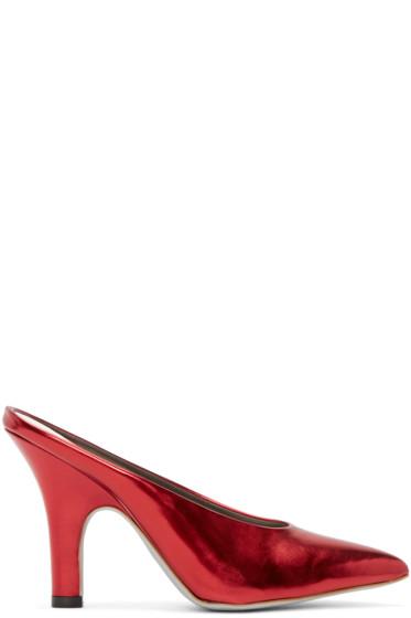 Amélie Pichard - Red Metallic Pamela Anderson Edition Mules