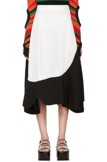 Toga - Black & White Asymmetrical Skirt