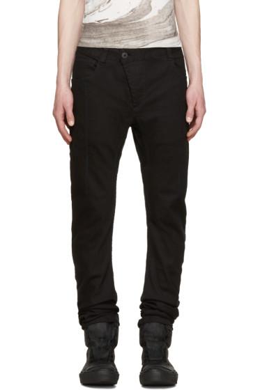 11 by Boris Bidjan Saberi - Black Contrast Stitch Jeans