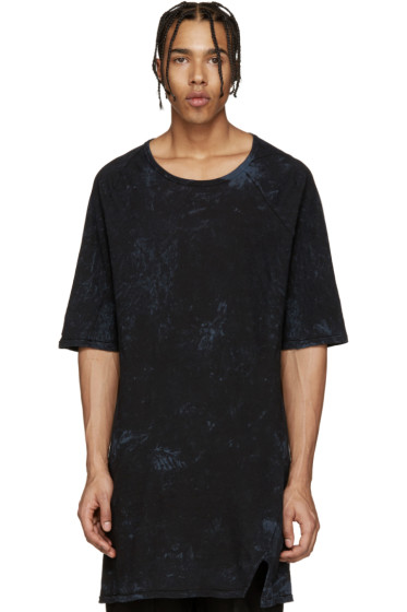 11 by Boris Bidjan Saberi - Blue Marbled Knit Mesh T-Shirt