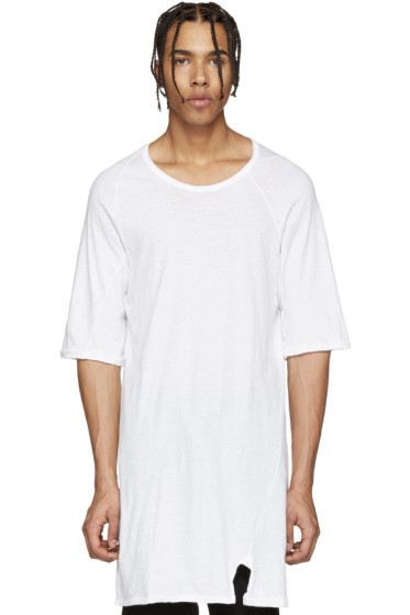 11 by Boris Bidjan Saberi - White Knit Mesh T-Shirt