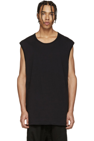 11 by Boris Bidjan Saberi - Black & Blue Muscle T-Shirt