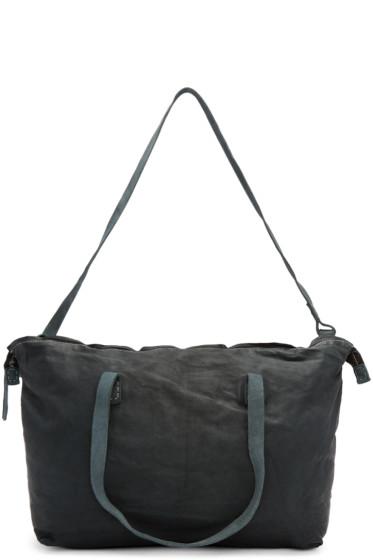 Boris Bidjan Saberi - Blue Kangaroo Leather Duffle Bag
